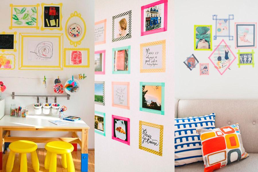Ideas geniales: washi tape para enmarcar los dibus de los niños