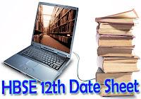 HBSE 12th Date Sheet