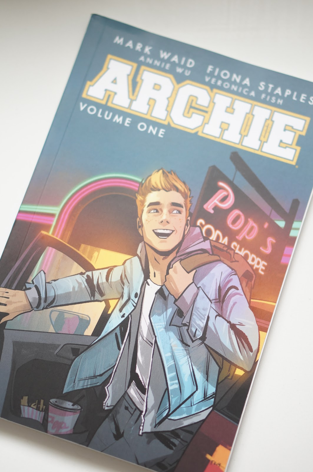 Popular North Carolina style blogger Rebecca Lately shares her recent stack of books to read.  Click here to read about the Archie comics!
