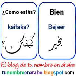 Como estas en letras arabes