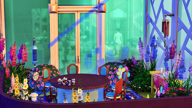 sims 4 custom content download: Lovely Morning Balcony outdoor room the Sims 4