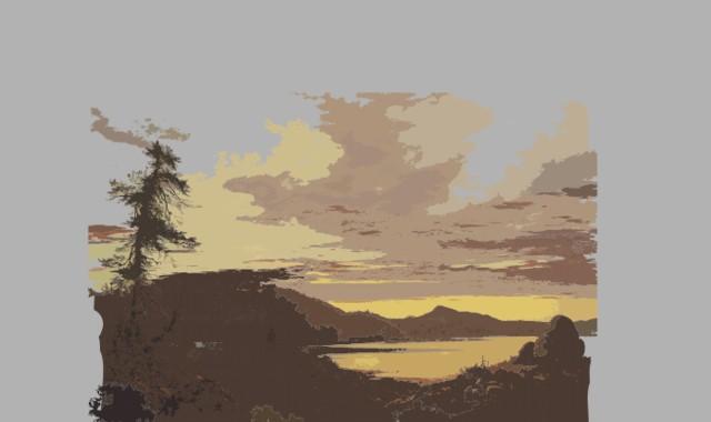 Landschaft und Abendstimmung