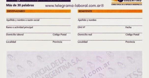 Modelos De Telegramas De Extinci N De Relaci N Laboral