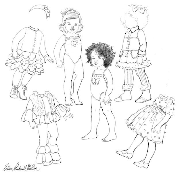 My Dolly and Me Paper Doll Sketches
