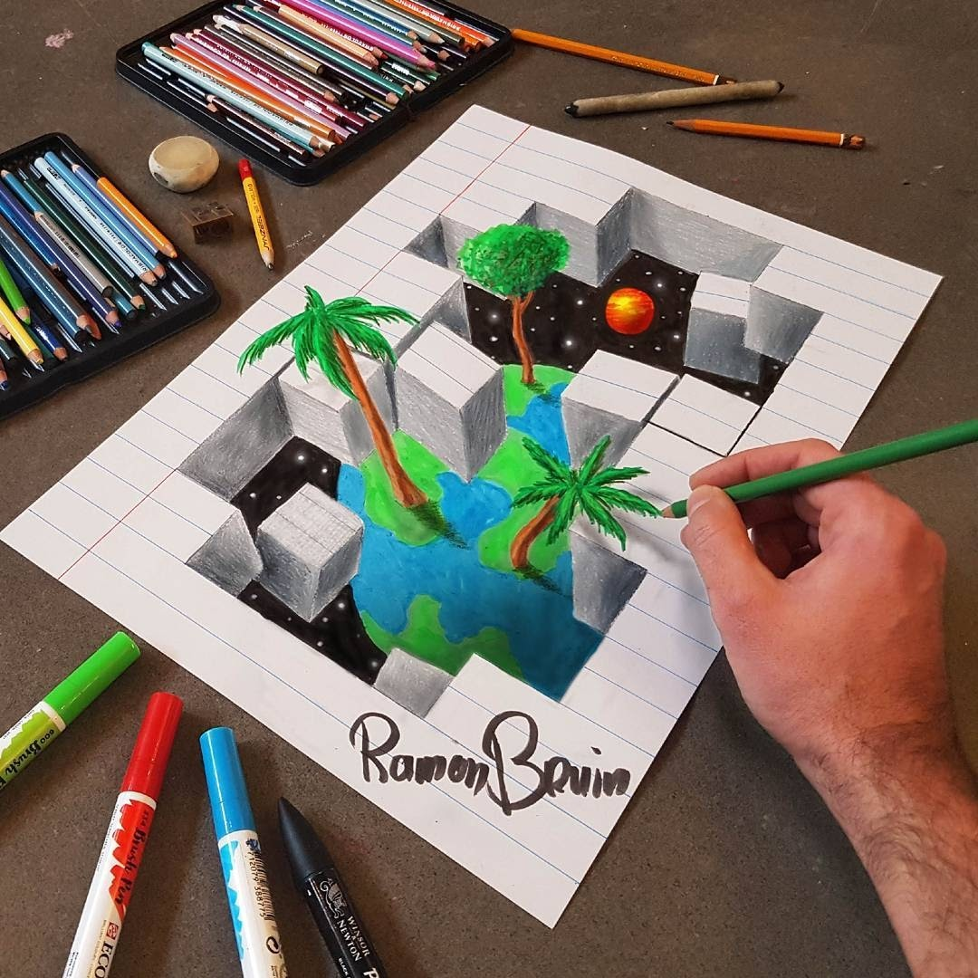 10-Splintering-Reality-Ramon-Bruin-Optical-Illusions-in-3D-Drawings-www-designstack-co
