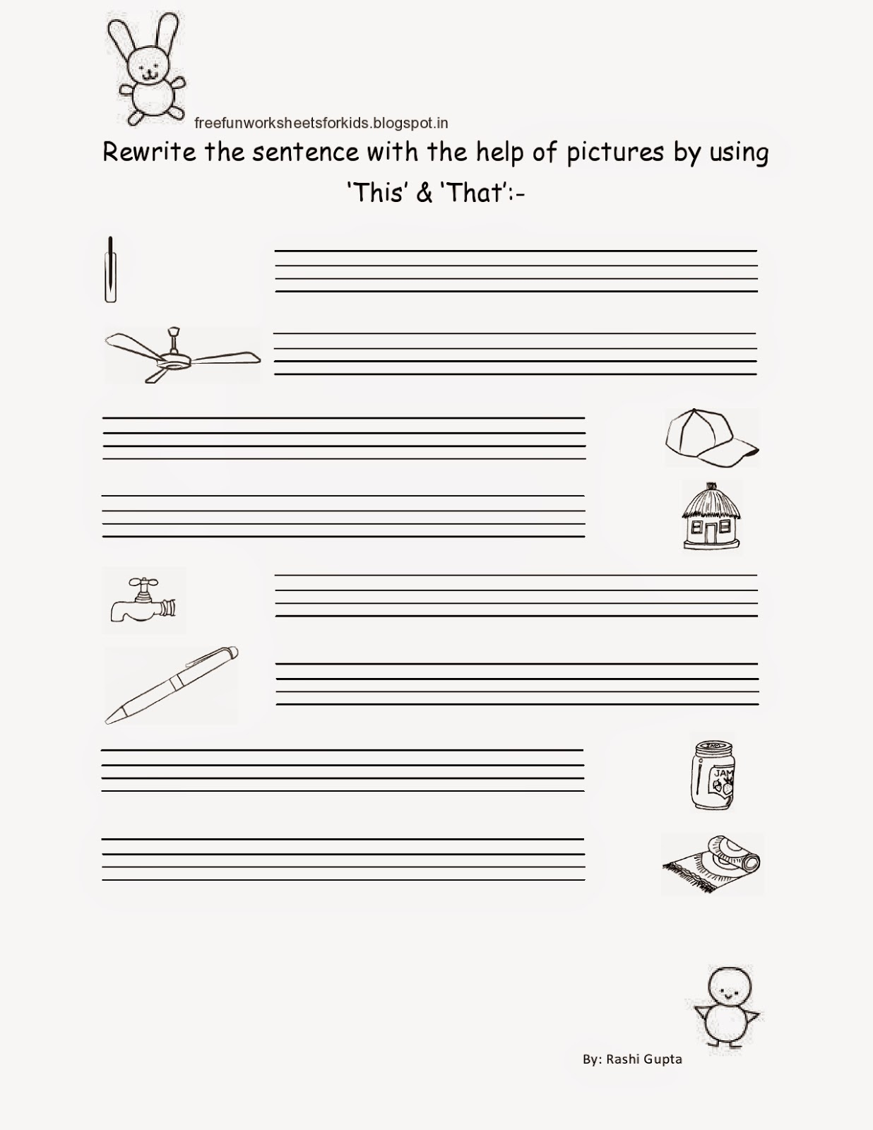 Free Fun Worksheets For Kids Free Printable Worksheet For Class I