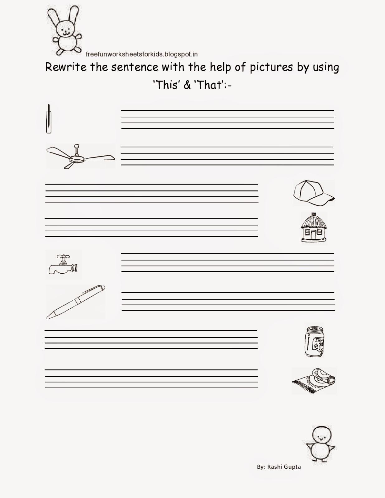 Free Fun Worksheets For Kids Free Printable Worksheet For