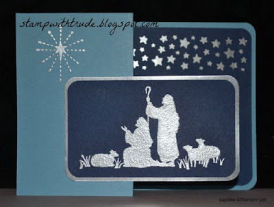 Christmas card, Stampin' Up!, Trude Thoman, http://stampwithtrude.blogspot.com, z fold, #stampinup, Tuesday Tutorial, Every Blessing