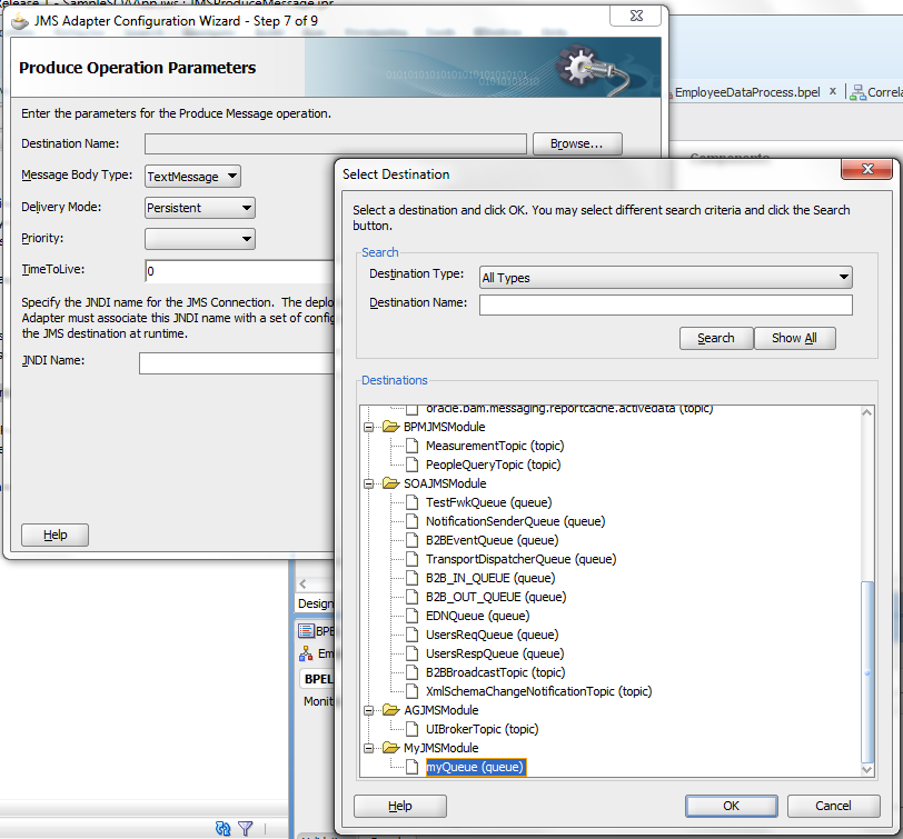 SOA & BPM - My Learnings: Publish Message to JMS Queue