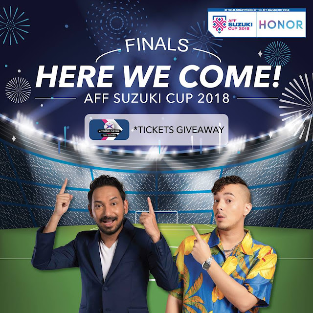 15 PAIRS FREE TICKETS to the AFF Suzuki Cup 2018 FINALS
