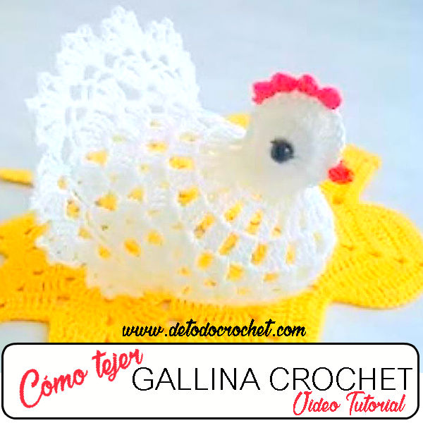 Cómo tejer una gallina al crochet / Tutorial en video | Todo crochet