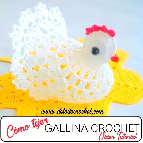 Gallina crochet - paso a paso