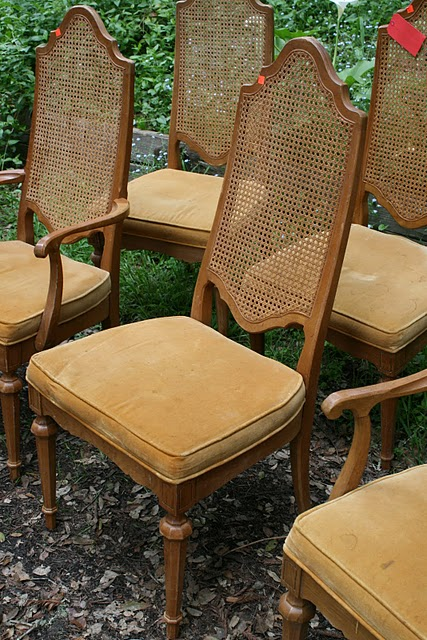 Where Can I Buy Cane For Chairs Caster On Wood Floors Reloved Rubbish Vintage Back In Old White Know It Took Me A While To Start Working These Bought Them April And Here Is July Before Finished