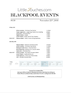 Blackpool Shows and Events November 23 to November 29 - PDF What's On listings print-off
