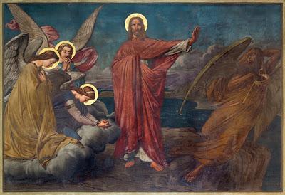 The temptation of Jesus is depicted in this 19th-century fresco. Renata Sedmakova