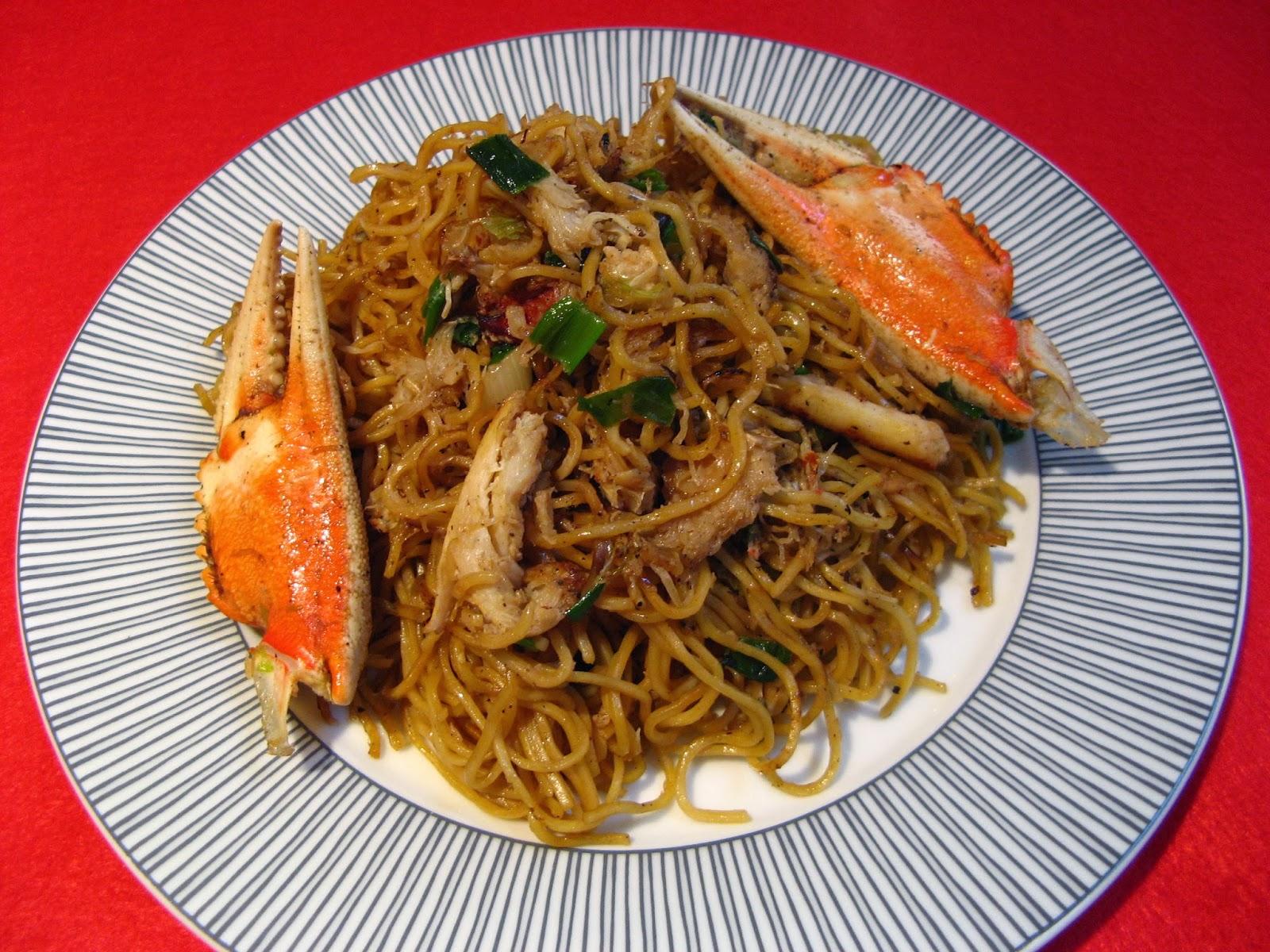 Duck Soup Easy: Dungeness Crab Hong Kong Noodles (北美大肉蟹
