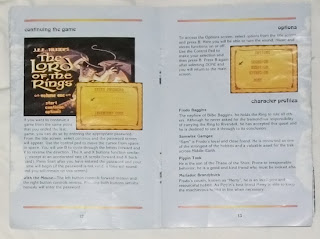 The Lord of the Rings Vol. I - Manual interior