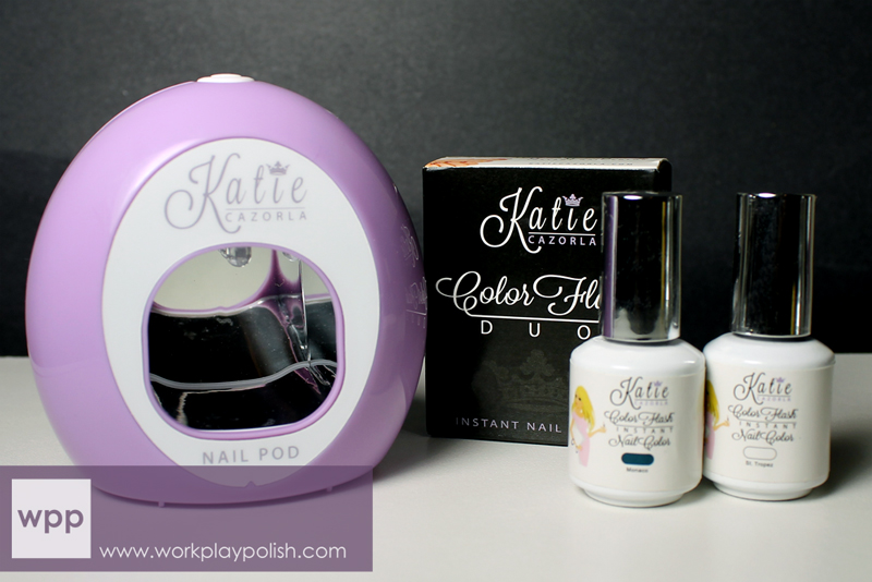 Katie Cazorla Color Flash Instant Nail Color with LED Pod