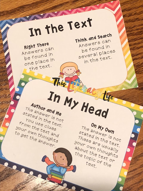Using the QAR strategy can be helpful for many students as they read various texts. It helps them to think about where they can find the answers to the questions.