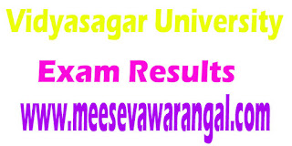 Vidyasagar University B.A/B.Sc/B.Com (General) Part III 2016 Exam Results