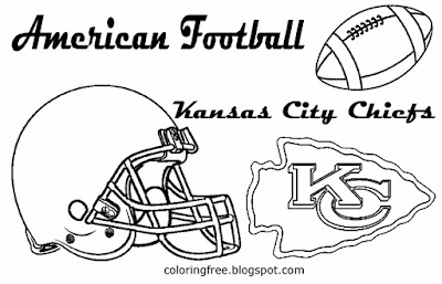 Kansas City Chiefs printable West American football coloring pictures for schoolboys US sports