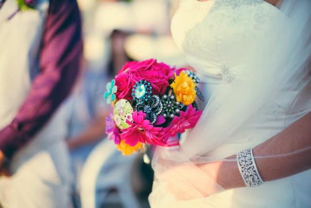 ramo de novia colorido