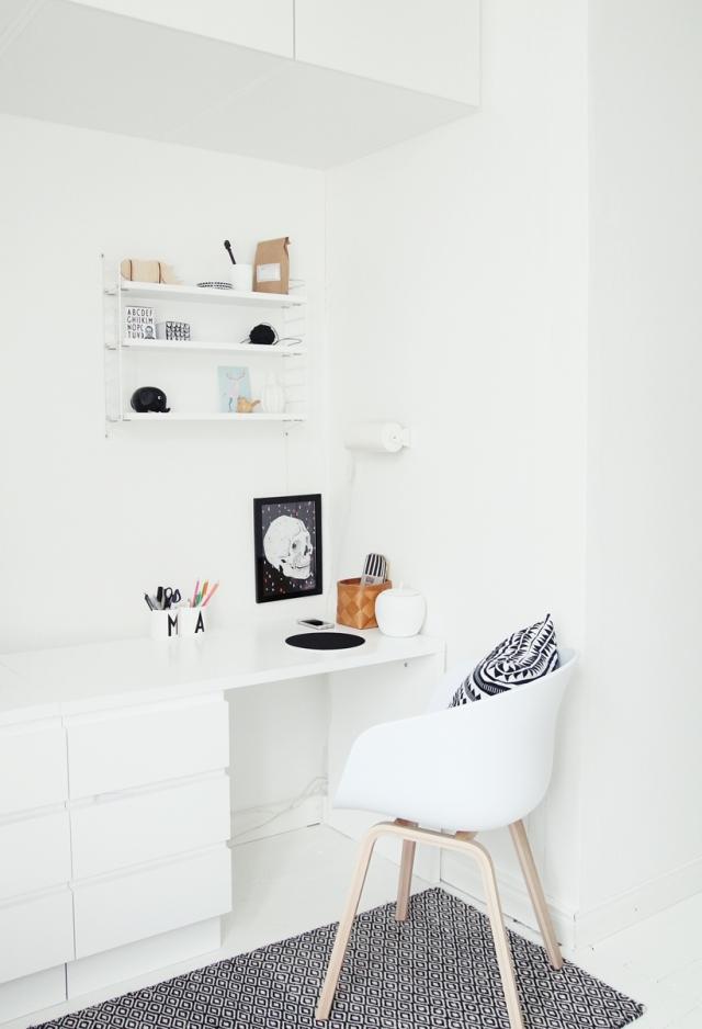 Espacio de trabajo estilo nórdico-escandinavo
