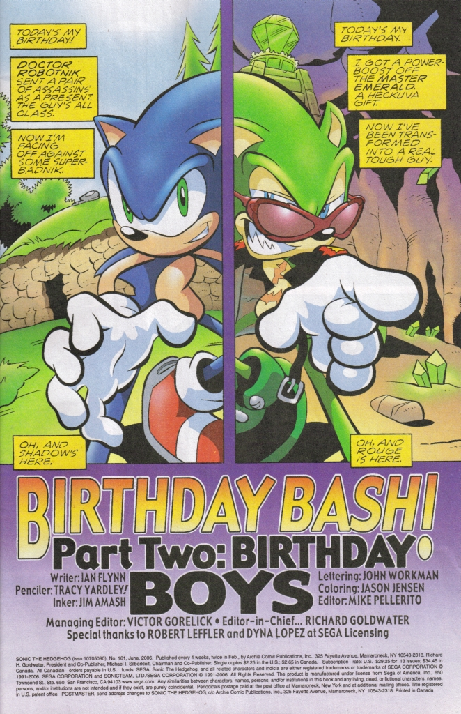 Read online Sonic The Hedgehog comic -  Issue #161 - 2