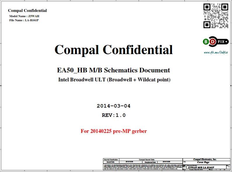ACER Z5WAH LA-B161P Rev:1 0 Schematics   BD-FIX