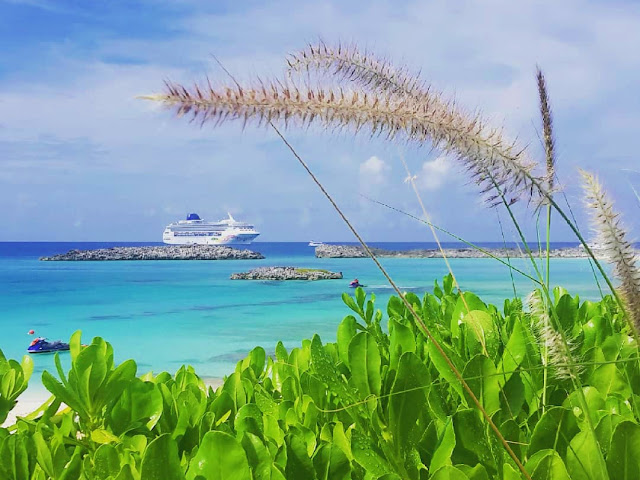Cruise ship in the bahamas