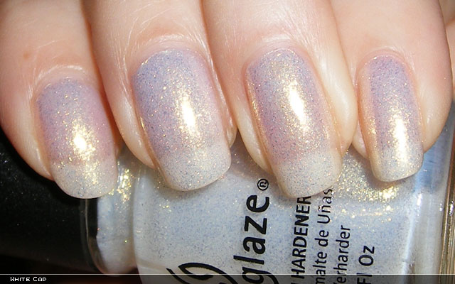 xoxoJen's swatch of China Glaze White Cap