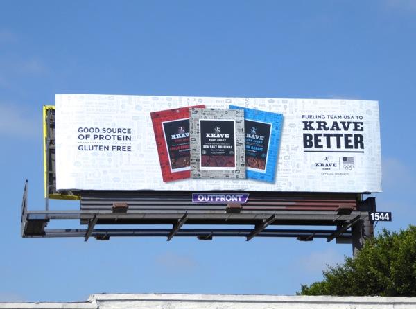 Krave Better Jerky Olympics sponsor billboard