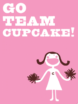 Go Team Cupcake from Paper-Loop