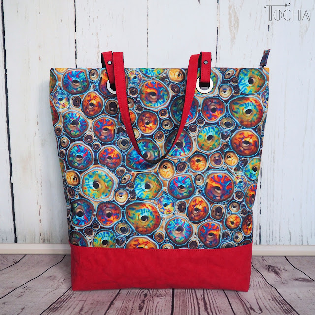Washpapa, gunmetal, #innywymiarszycia, Inny Wymiar Szycia, vegan leather, vegan fashion, Blue Planet, sea, washpapa color, BBC, environment, tote bag, shoulder bag,  waterproof, polyester,