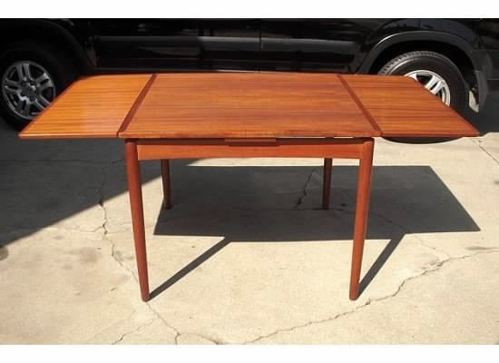 Vintage Mid Century Furniture SOLDMid Century - Teak dining table with leaf