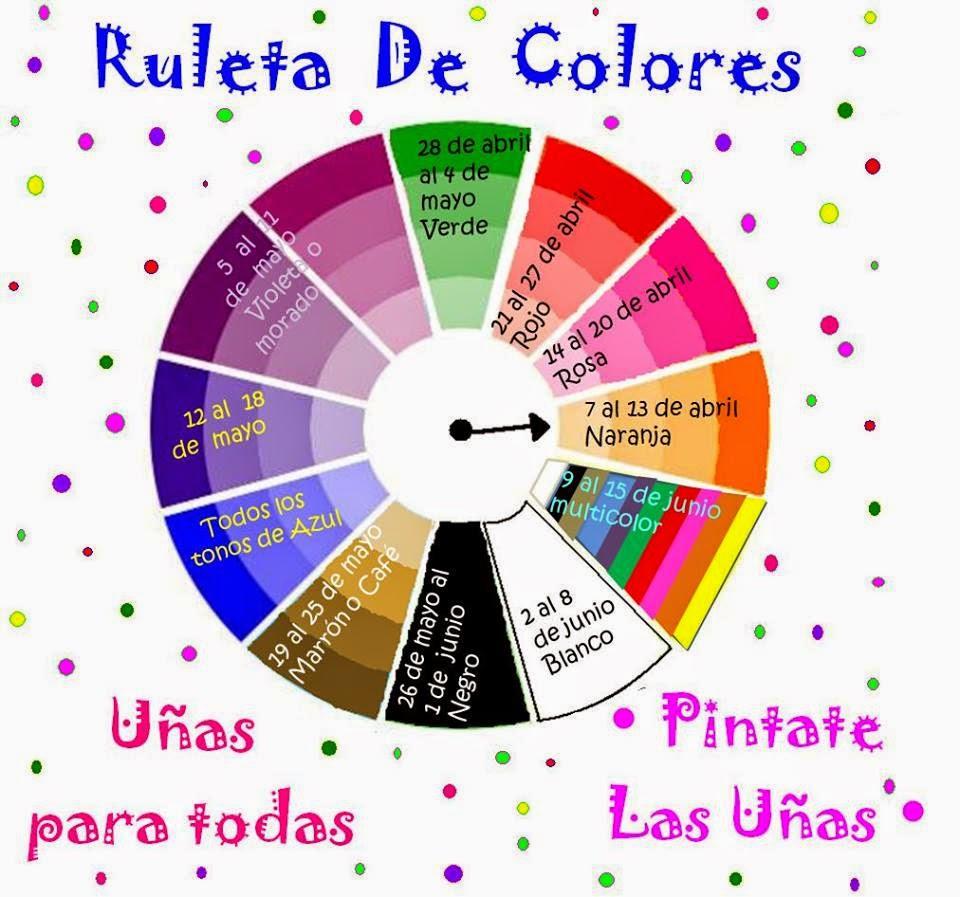 Reto Ruleta De Colores Octava Semana Rompiendo Los Esmaltes