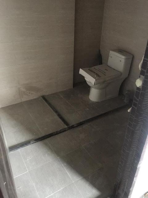 Hình ảnh đã lắp đặt sơ một phần vệ sinh