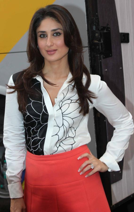Kareena Kapoor Legs Show Photoshoot In White Shirt Mini Pink Skirt