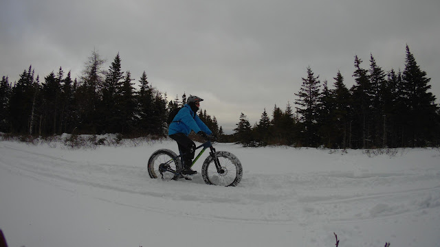 Riding Snow Fat Bike