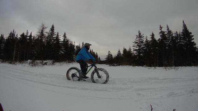 Riding Snow Fat Bike