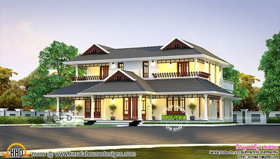 Traditional Kerala model residence
