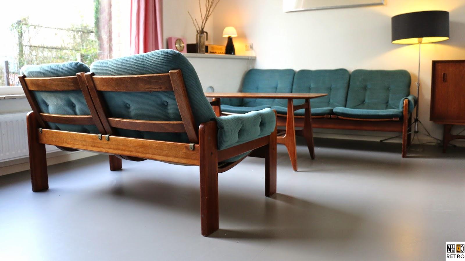 Favoriete Retro jaren 60 - 70 Pastoe (Swedese) bankstel van ontwerper Yngve &HI13