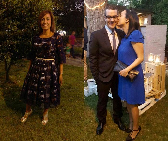 invitada perfecta boda noche vestido azul