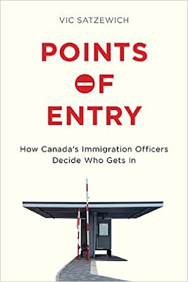 An image of Vic Satzewich's book, Points of Entry