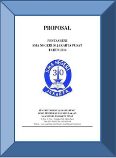 Contoh Proposal Kegiatan Sekolah - cover