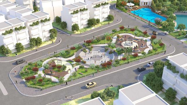 Khu quảng trường trung tâm của dự án