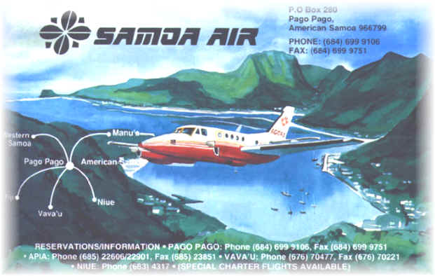 Duners Blog APRIL 9 SAMOA AIR CHARGES PASSENGERS BY WEIGHT