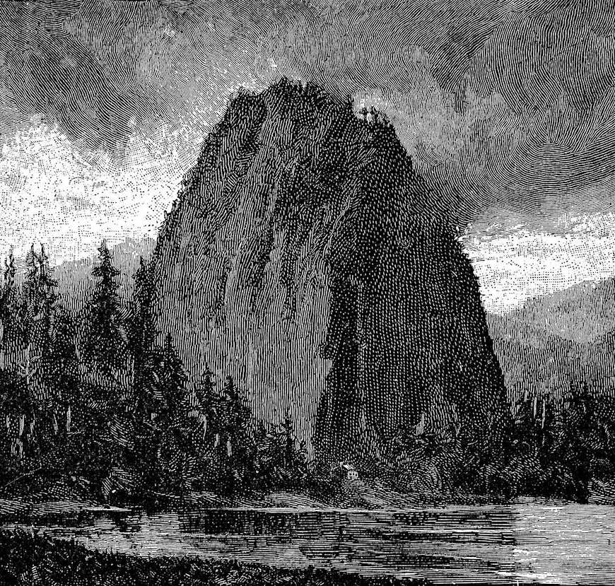 an 1899 photo engraving of an odd mountain