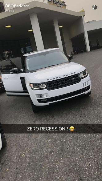 Recession who? Davido flaunts brand new 2017 Range Rover