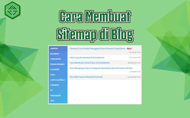 Cara-membuat-sitemap-di-laman-statis-blog